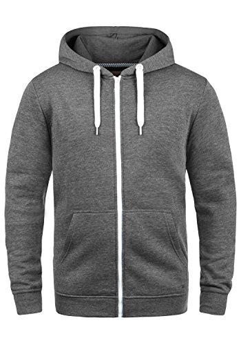 !Solid Olli Ziphood Herren Sweatjacke Kapuzenjacke Hoodie Mit Kapuze Reißverschluss Und Fleece-Innenseite, Größe:L, Farbe:Grey Melange (8236)