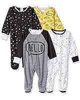 Gerber Baby Boys' 4 Pack Sleep N' Play Footie, Star, Newborn