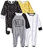 Gerber Baby Boys' 4 Pack Sleep N' Play Footie, Star, 3-6 Months