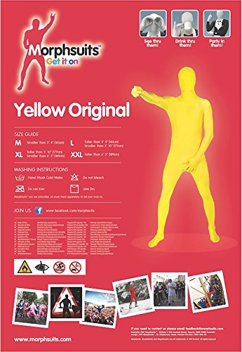 Original Morphsuit Fancy Dress Costume Yellow X Large