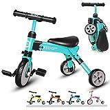 XJD Vélo Draisienne Tricycle pour Enfants de 2-4 Ans 2 en 1 Premier Vélo...