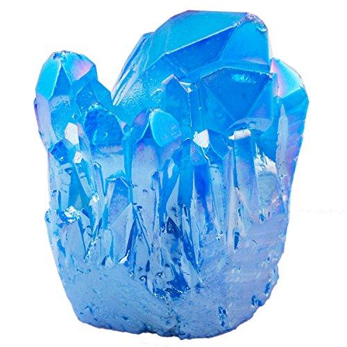 Shanxing Natürlicher Amethyst, unregelmäßige Oberfläche, Dekoration, Chakra, Stein, Titanium Coated Quartz,Navy Blue