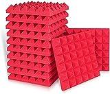 Kuchoow Lot de 12 tapis en mousse acoustique pour podcasts, studios d'enregistrement, home cinéma (30 x 30 x 5 cm)
