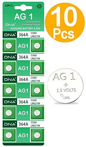 DNA 10 x AG1 Eunicell Alkaline Knopfzelle G1 LR60 LR621 SR621W 364