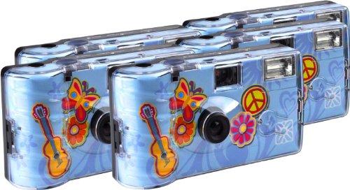 TopShot blomma ström engångskamera 27 foton blixt 5-pack