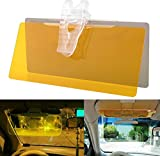 Reduces Blinding Glare From The Sun During the Day. Brightens Vision and cuts harsh Headlight Glare at Night. Enhances Color, Clarity and Contrast. HD Day & Night Vision Flip Down Anti Glare clear Visor for Comfortable Driving Package Included :- 1 H...