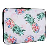 Pineapple Design Laptop Sleeve Bag 15-15.6 Inch, Water Repellent Neoprene Light Weight Computer Skin Bag, Notebook Carrying Case Cover Bags for 15/15.4/16 Inch MacBook Pro, MacBook Air, Computer Bag
