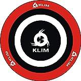 KLIM Chair Mat - Alfombra de Tela para sillas con Ruedas + Protector de Suelo para Silla de Oficina + Decora tu Oficina, salón, Dormitorio, etc. + 120 cm + Nueva 2021 (Roja y Blanca)