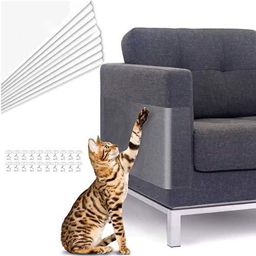 TaimeiMao Kratzschutz,Kratzschutz for Katze Hund,kratzschutz Sofa,Kratzabwehr Katzen,Transparent Katze Klebeband,Kratzschutz Set,Kratzschutz Möbel für Sofa, Tür, Möbel, Wand (10 Stücke)