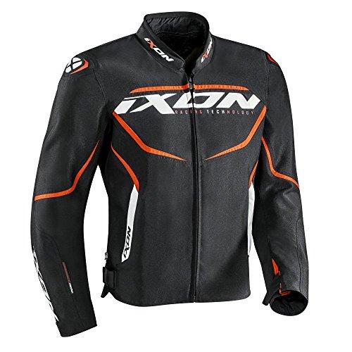 IXON Motorradjacken Sprinter Schwarz/Orange, Schwarz/Orange, M