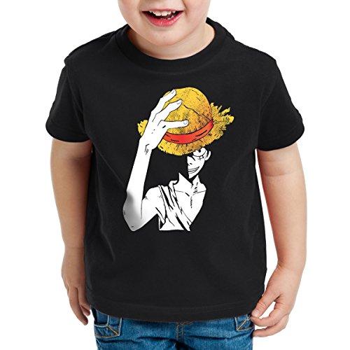 style3 Ruffys Straw Hat Kinder T-Shirt, Größe:104