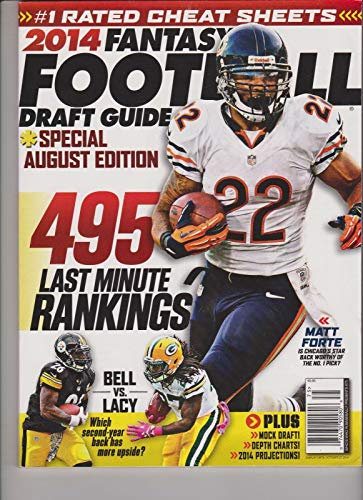 FANTASY FOOTBALL MAGAZINE 2014 DRAFT GUIDE SPECIAL AUGUST EDITION. Product