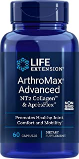 Life Extension ArthroMax Advanced with NT2 Collagen and ApresFlex, 60 capsules (Pack of 3)