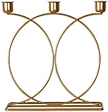 Candle Holders Nordic Style 3D Candle Holder, Metal Candle Holder Crystal Candle Holders (Color : 1)