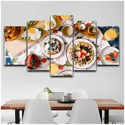 NIEMENGZHEN Druck auf Leinwand Leinwand BilderrahmenLeckeres Essen Bilder Wandkunst Home -50x70cm No Frame