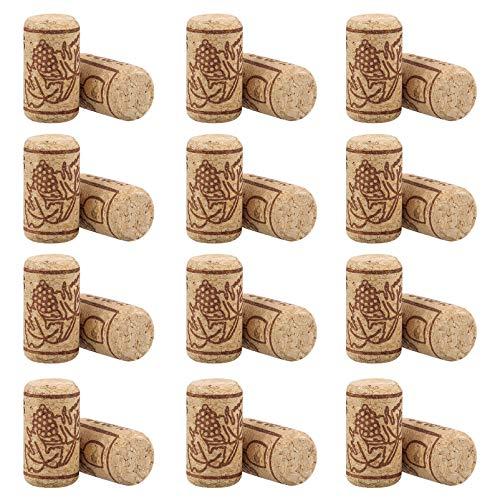 Housoutil Corchos de vino de madera, corcho natural, cubierta de sellado portátil para botellas de vino, herramientas de barra, 100 unidades
