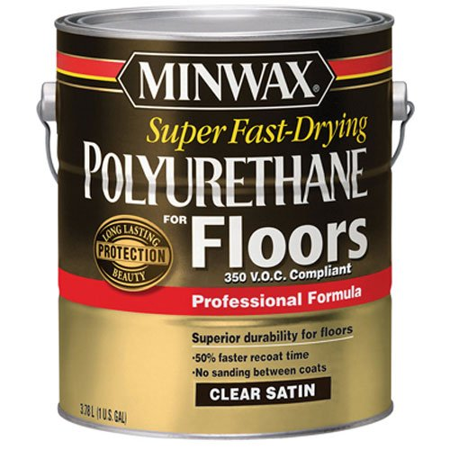 Minwax 130250000 Super Fast-Drying Polyurethane For Floors 350 VOC, 1 gallon, Satin