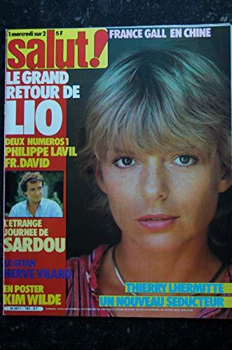 SALUT ! 183 29 sept. au 12 oct. 1982 France Gall Cover + 6 p. - Lio - Sardou - Vilard -Poster Kim Wilde