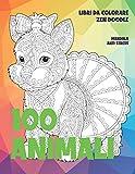Libri da colorare Zen Doodle - Mandala Anti stress - 100 Animali