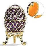 3.8x2.2in Huevo de Pascua Pintado a Mano Forma de Huevo Esmaltado Brillante...