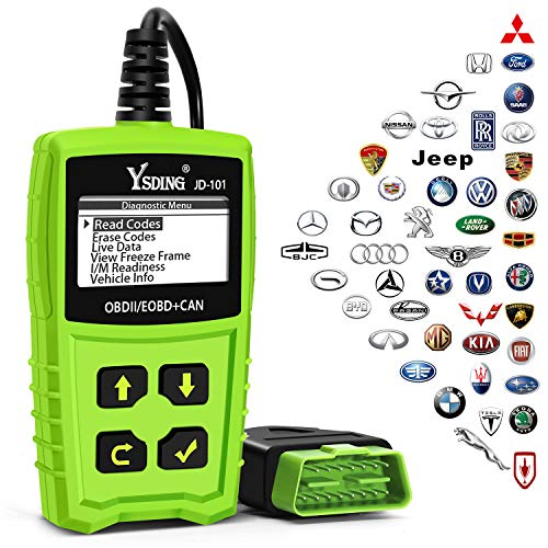 Ysding OBD2 Scanner Auto Check Car Engine Fault Code Reader Enhanced Universal OBD II Classic Diagnostic Scan Tool Suitable for EOBD/CAN Vehicles