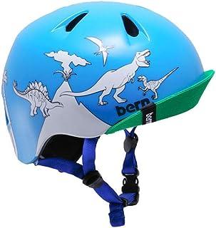 BERN バーン ジュニア キッズ ヘルメット NINO ニノ BE-VJBBDCBV ブルーダイナソー