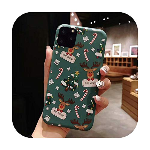 3D Doll Cartoon Christmas Santa Reindeer Tree Phone Case For iPhone 12 11 Pro Max XR XS Max 7 8 Plus X Candy Soft Back Cover-d-For iPhone 7 or 8