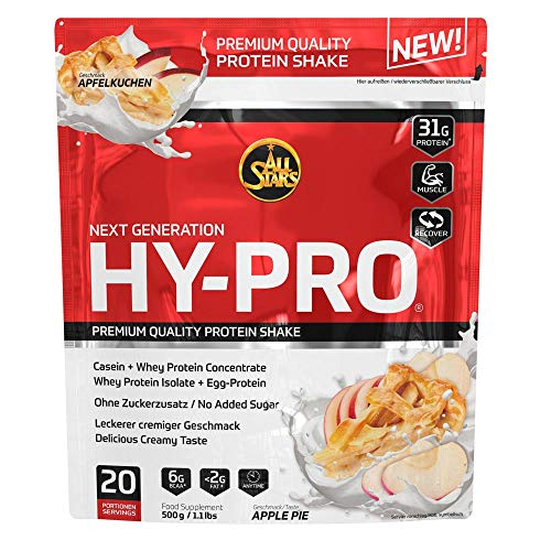 All Stars Hy-Pro Protein, Apple Pie, 1er Pack (1 x 500 g)
