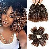 8 Inch Short Passion Twist Crochet Hair 6 Bundles Marlybob Crochet Hair Kinky...