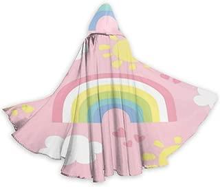 N\A Arco Iris Multicolor con Capa de Capa de Nube Blanca Linda ...
