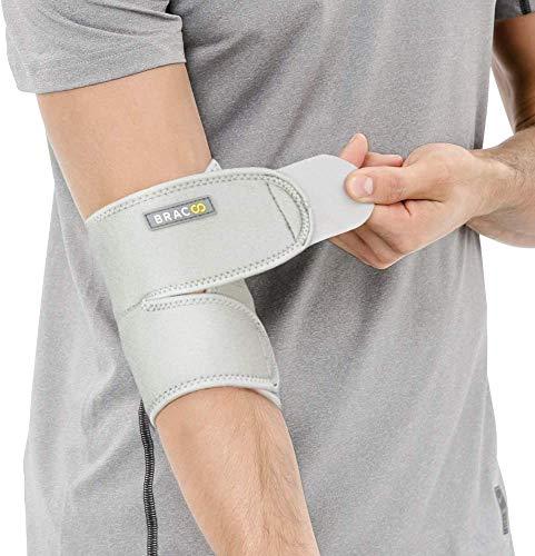 Bracoo ES10 I Codera Ajustable Para Deporte Rehabilitación Prevención de Lesiones Alivia Dolor Artritis Hinchazón Unisex Universal Negro