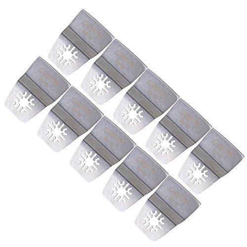Silber 52mm Breite Edelstahl Oszillierwerkzeug Universal Flexible Scraper Blade Multi-Tool-Set von 10
