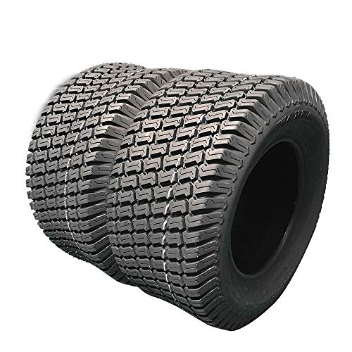 Set Of 2 Turf Tires 16x6.5-8 Lawn & Garden Lawn Tractor Mower Tubeless Tires 16-6.5-8 4 Ply P322 Tubeless Load Range B Golf cart tire