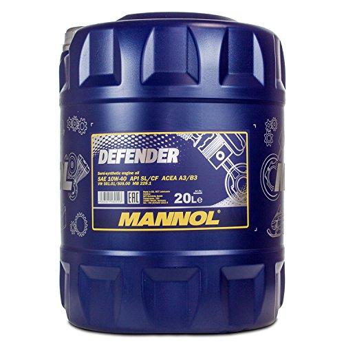 MANNOL Defender 10W-40 API SL/CF motorolie, 20 liter