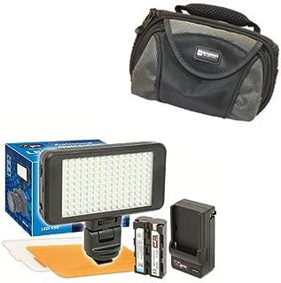 Panasonic HDC-TM20 Camcorder Lighting Vidpro Ultra-Slim LED-230 Video and Photo LED Light Kit- with SDC-26 Case