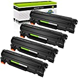 GREENCYCLE High Yield Compatible 35A CB435A Toner Cartridge Replacement for Laserjet P1002 P1003 P1004 P1005 P1006 P1007 P1009 Series Printers (Black, 4 Pack)