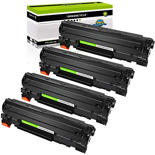 GREENCYCLE 4PK Compatible Replacement for HP 36A CB436A Black Mono Laser Toner Cartridge Ink use in Laserjet M1522n MFP M1522nf MFP P1505 P1505n M1120 MFP M1120n MFP M1522 MFP 1522F MFP MFP M1550