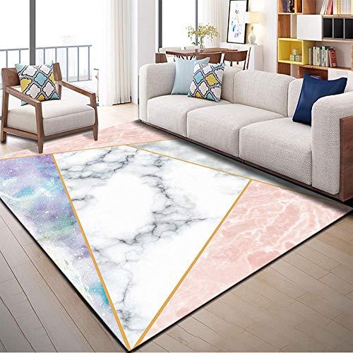 Alfombras Lavables Salon Bedroom Mat Moderno Minimalista Abstracto geométrico Sala de Estar Alfombra Corredor Alfombra Alfombra de Piso Alfombras Juveniles Dormitorio 60x90cm