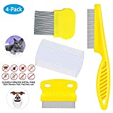 weback flea Comb for Cats Dogs Pets - Best Grooming Tools Set...