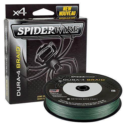 SPIDERWIRE dura-4 filo intrecciato 300M VERDE MUSCHIO 51lb 23.2kg 0.25mm