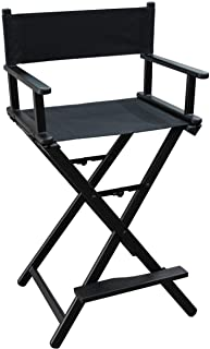 Director Aluminum Lightweight Makeup Artist Chair Black Professional