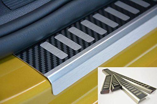 V-Protect Ladekantenschutz Lackschutzfolie Schutzfolie Lackschutz Sto/ßstangenschutz Carbon Schwarz 3D 160/µm 2111-100