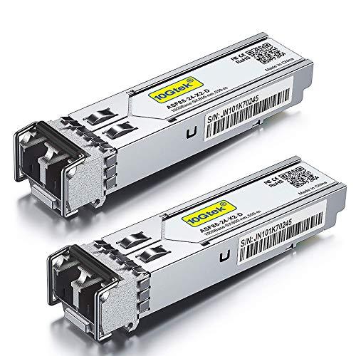 [Paquete de 2] Transceptor multimodo 1G SFP LC SX Compatible con HP J4858A / J4858B / J4858C - Módulo 1000Base-SX Mini-Gbic, Conector LC Doble, 850 NM, 550 Metros
