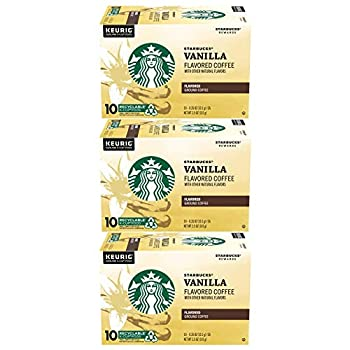 Starbucks Vanilla Coffee K-Cup Portion Pack for Keurig K-Cup Brewers 10 Count  Pack of 3