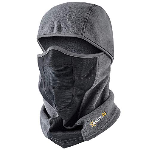 AstroAI Ski Mask Winter Face Mask Balaclava for Cold Weather Windproof Breathable for Men Women Skiing Snowboarding & Motorcycle Riding, Grey
