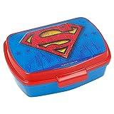 | Superman | Sandwichera Para Niños Decorada - Fiambrera Infantil | Caja Para El Almuerzo Y Porta Merienda Para Colegio - Lonchera