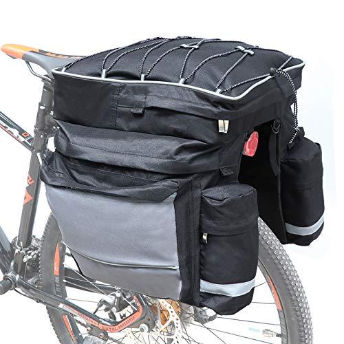 COFIT 68L Bicicleta Pannier, Bolso Impermeable para Maletero de Bicicleta como Portaequipajes Negra