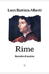 Rime: Raccolta di sestine (Italian Edition) Kindle Edition