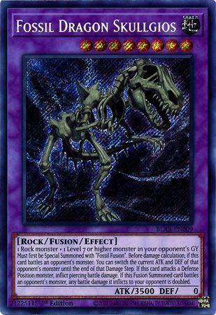 Fossil Dragon Skullgios - BLAR-EN009 - Secret Rare - 1st Edition