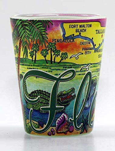 Florida Map All-around Shot Glass